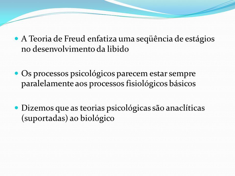 A Teoria de Freud enfatiza uma seqüência de estágios no desenvolvimento da libido