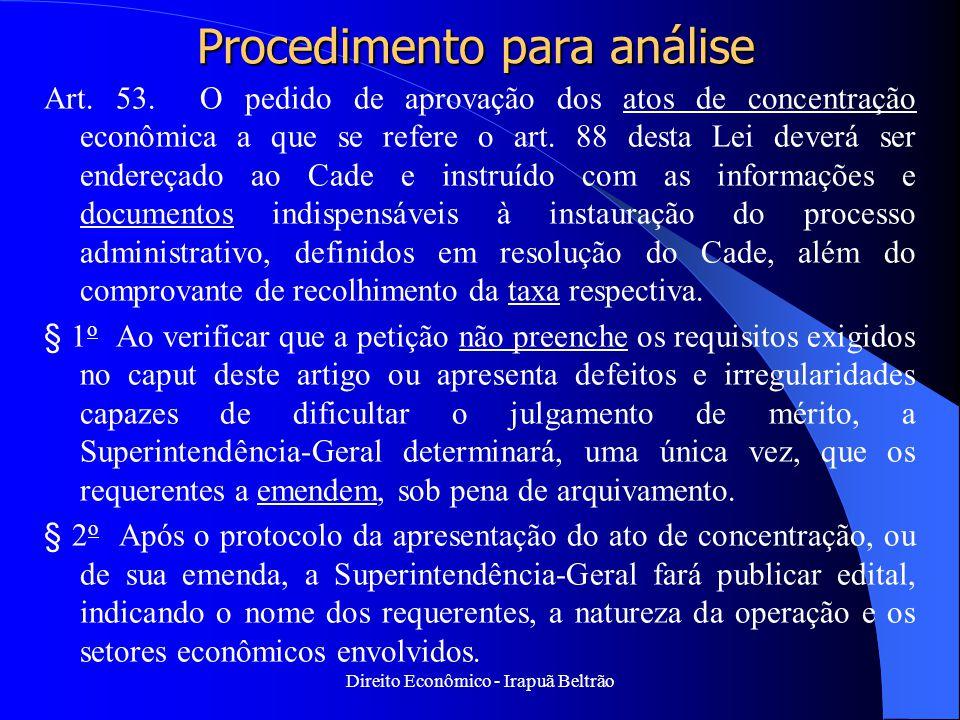 Procedimento para análise