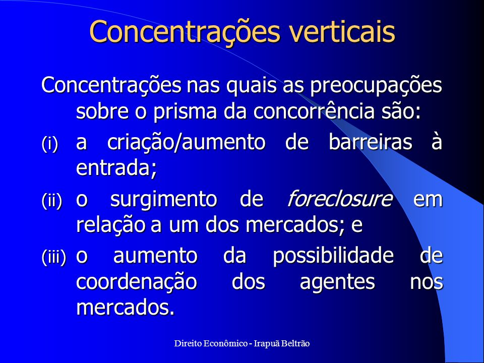 Concentrações verticais