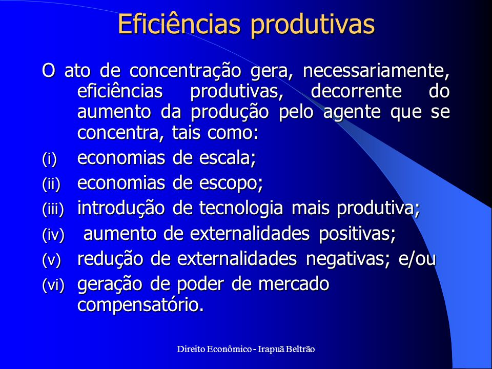 Eficiências produtivas