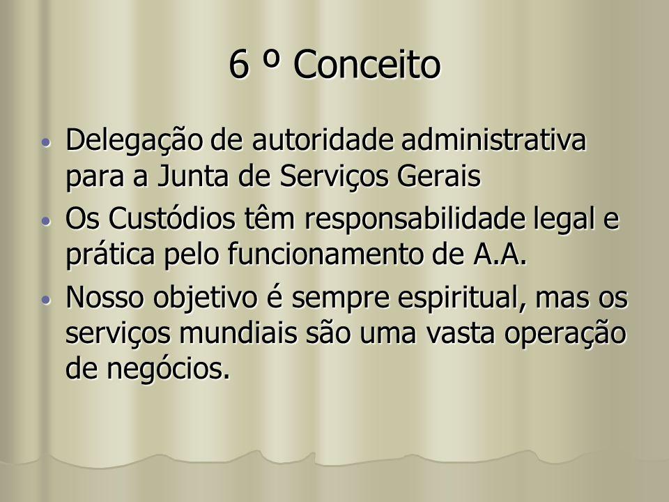 6 º Conceito Delegação de autoridade administrativa para a Junta de Serviços Gerais.