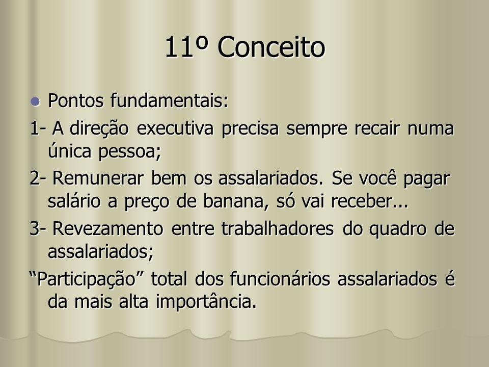 11º Conceito Pontos fundamentais: