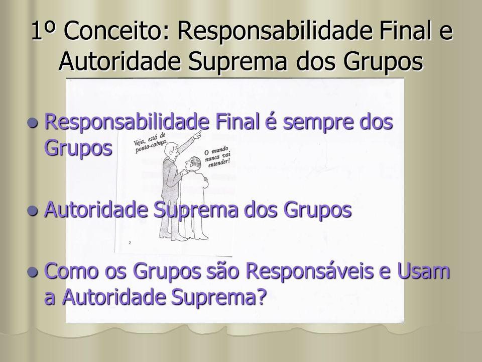 1º Conceito: Responsabilidade Final e Autoridade Suprema dos Grupos