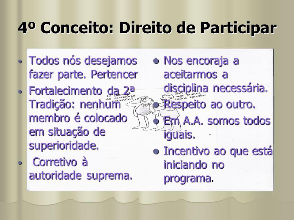 4º Conceito: Direito de Participar