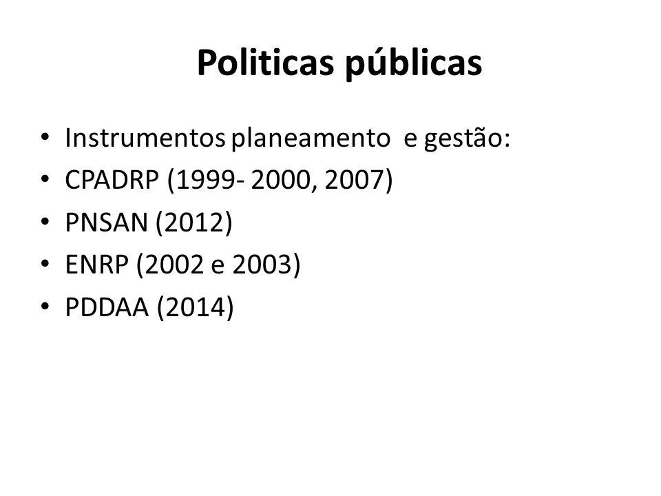Politicas públicas Instrumentos planeamento e gestão: