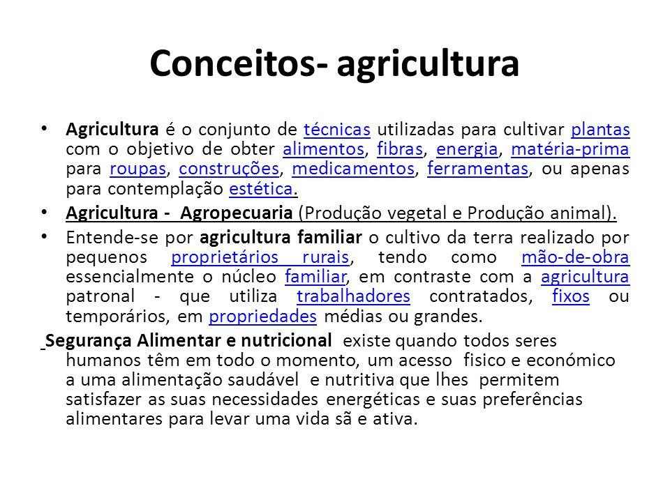 Conceitos- agricultura