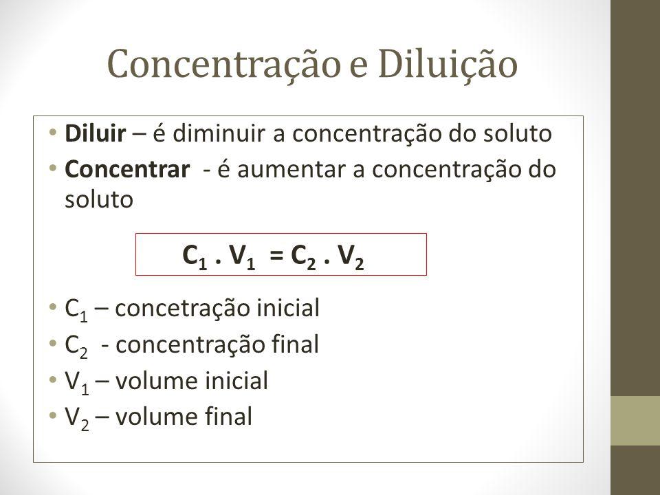 Concentração e Diluição