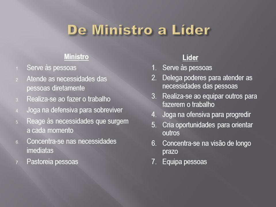 De Ministro a Líder Ministro Serve às pessoas