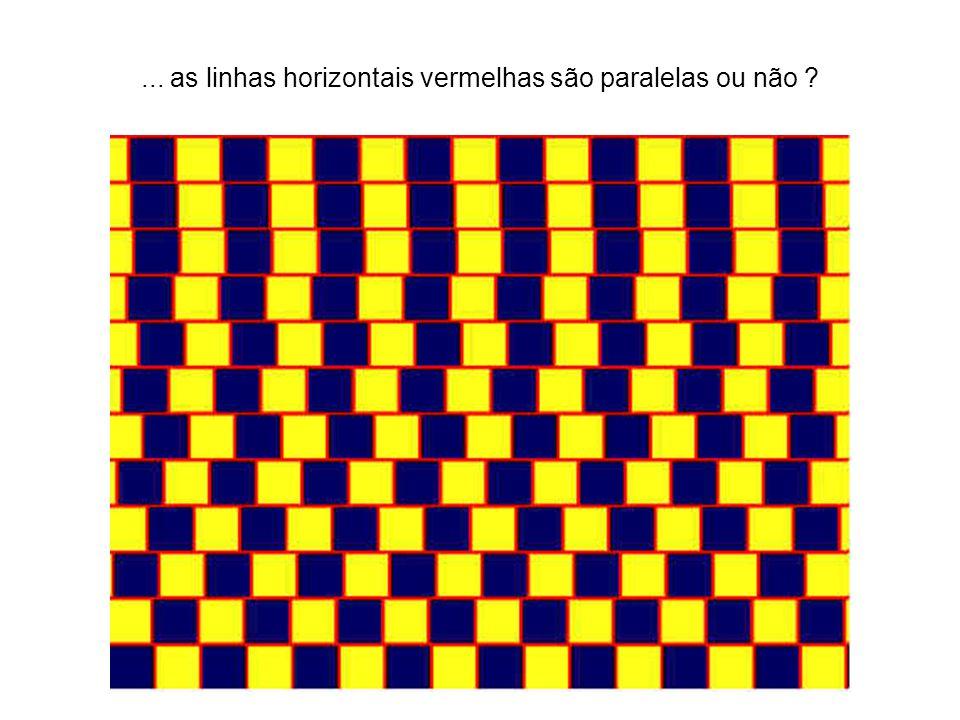 ... as linhas horizontais vermelhas são paralelas ou não