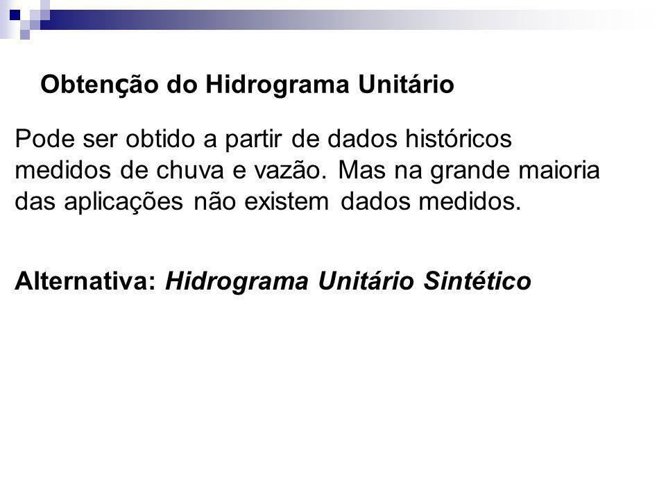 Obtenção do Hidrograma Unitário