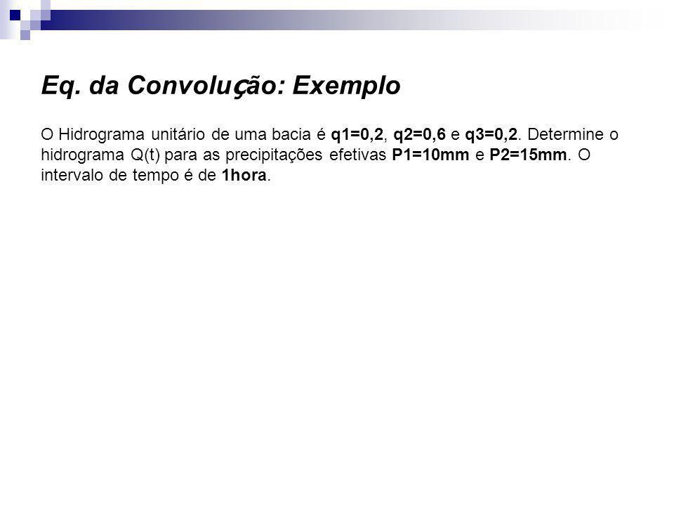 Eq. da Convolução: Exemplo
