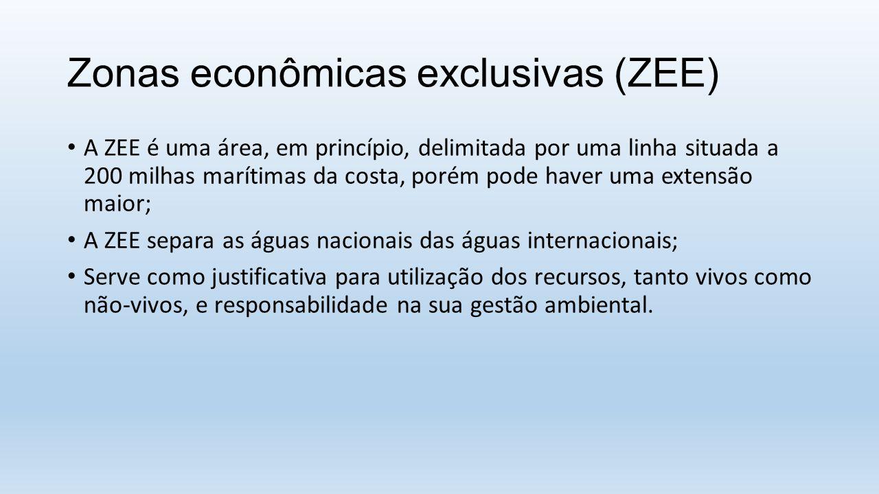 Zonas econômicas exclusivas (ZEE)