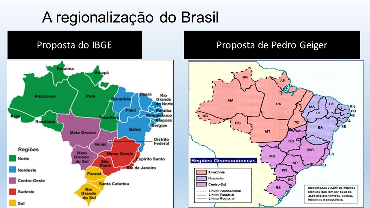 A regionalização do Brasil