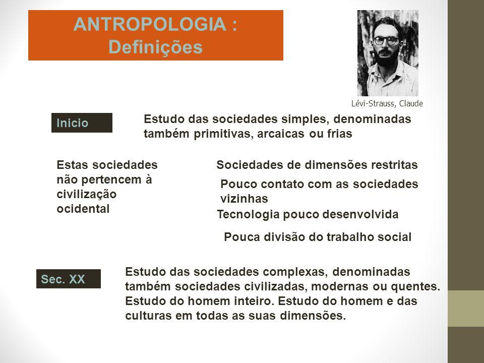 ANTROPOLOGIA : Definições