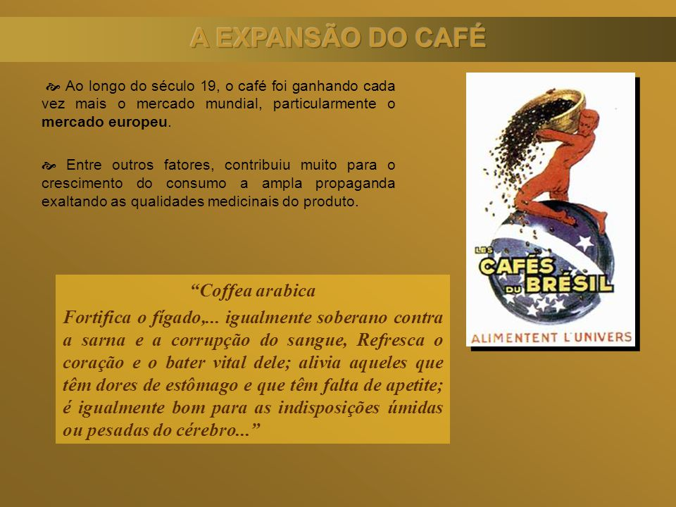 A EXPANSÃO DO CAFÉ Coffea arabica