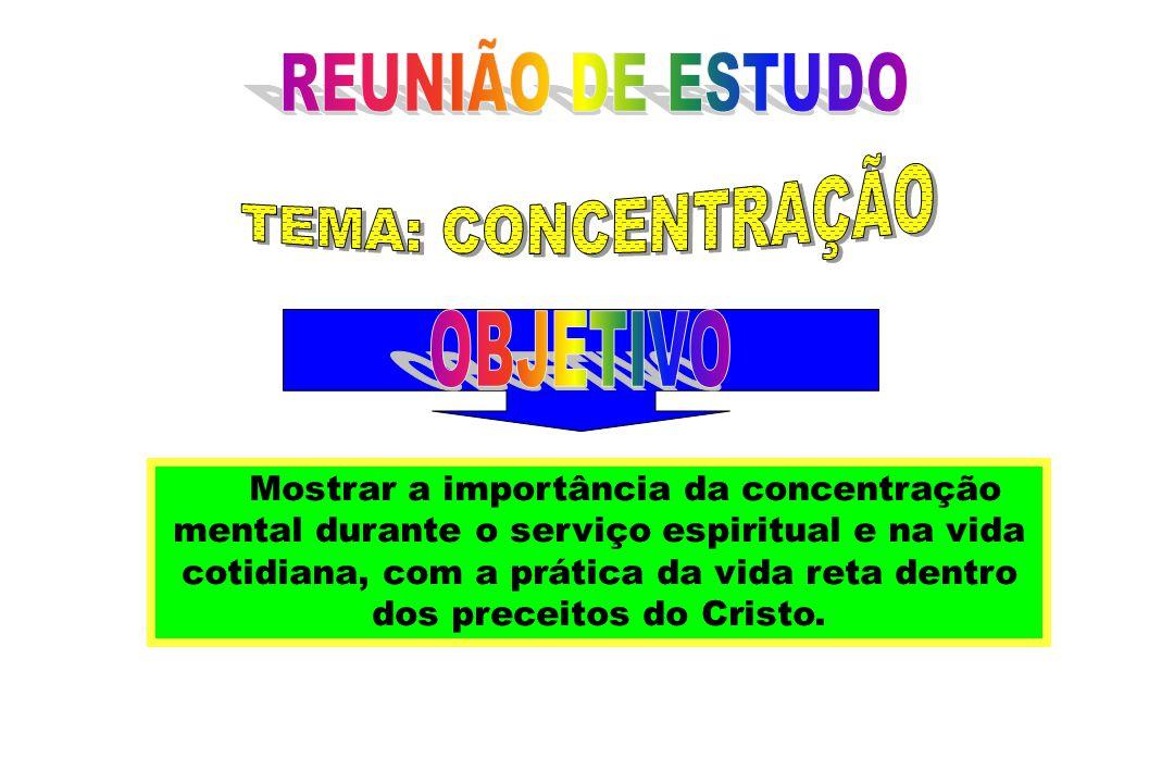 REUNIÃO DE ESTUDO TEMA: CONCENTRAÇÃO OBJETIVO