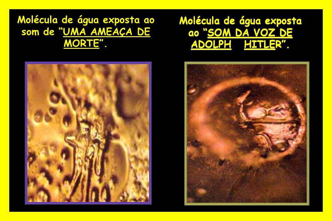 Molécula de água exposta ao som de UMA AMEAÇA DE MORTE .