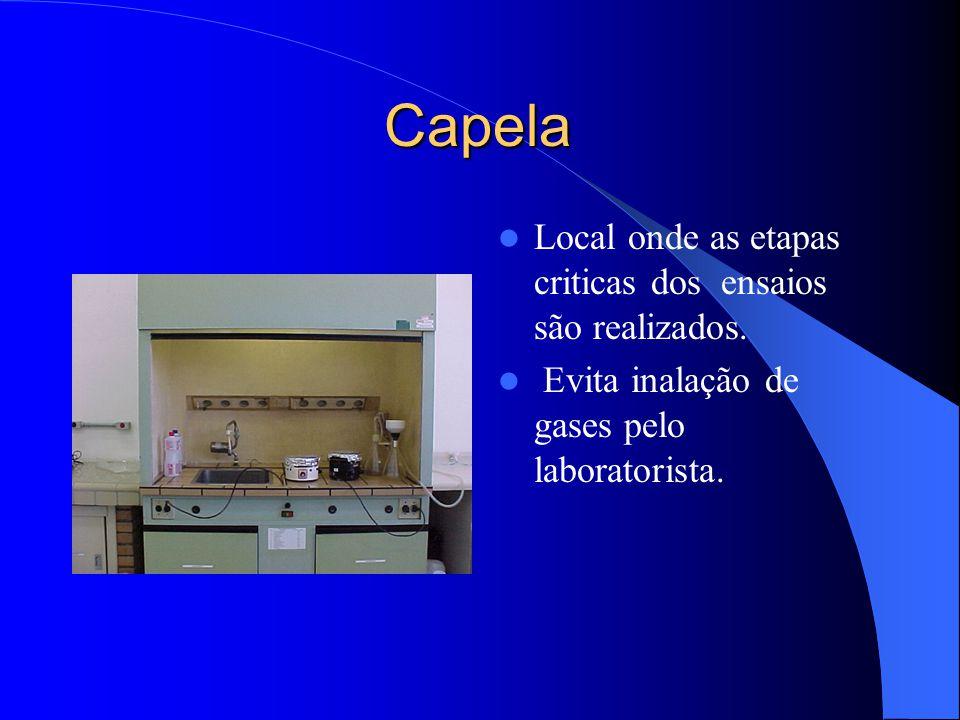 Capela Local onde as etapas criticas dos ensaios são realizados.