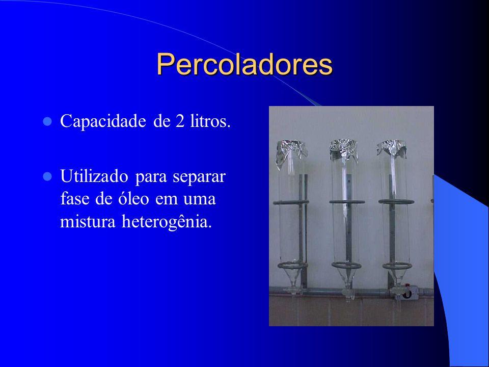 Percoladores Capacidade de 2 litros.