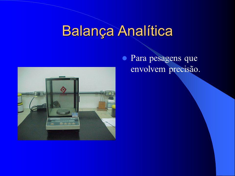 Balança Analítica Para pesagens que envolvem precisão.