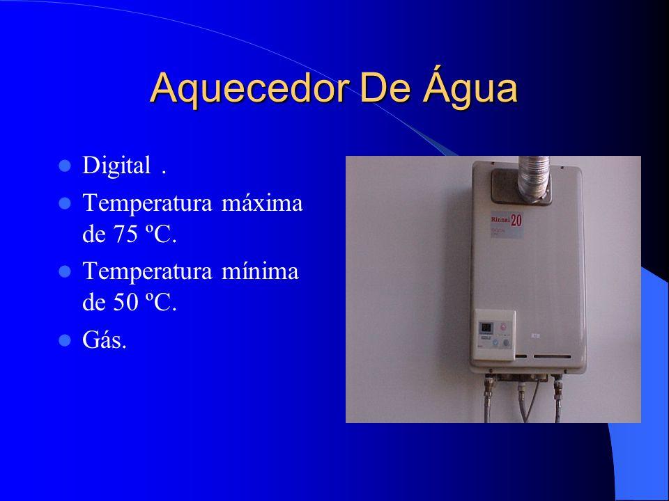 Aquecedor De Água Digital . Temperatura máxima de 75 ºC.
