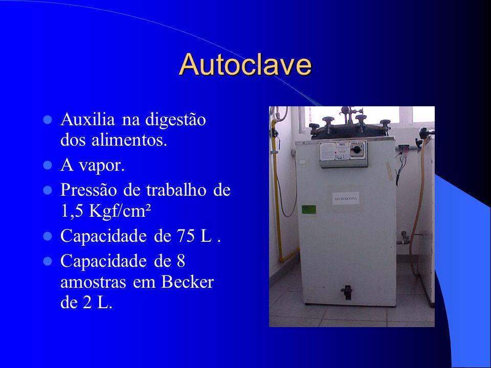 Autoclave Auxilia na digestão dos alimentos. A vapor.