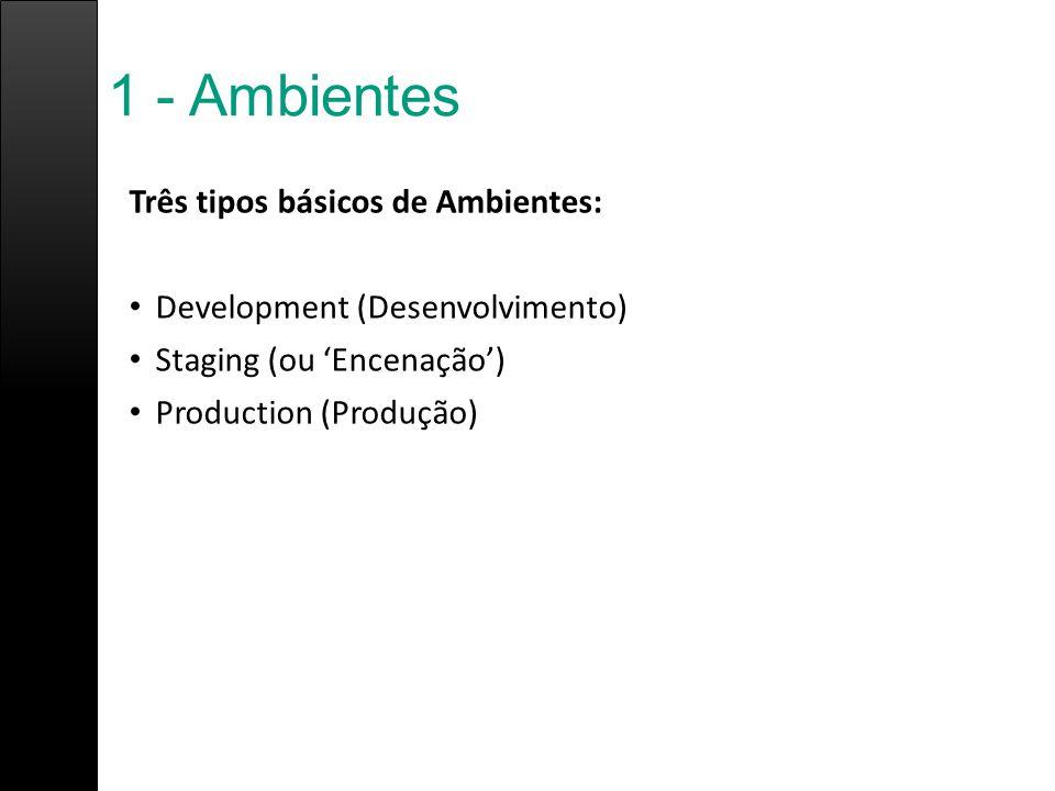 1 - Ambientes Três tipos básicos de Ambientes:
