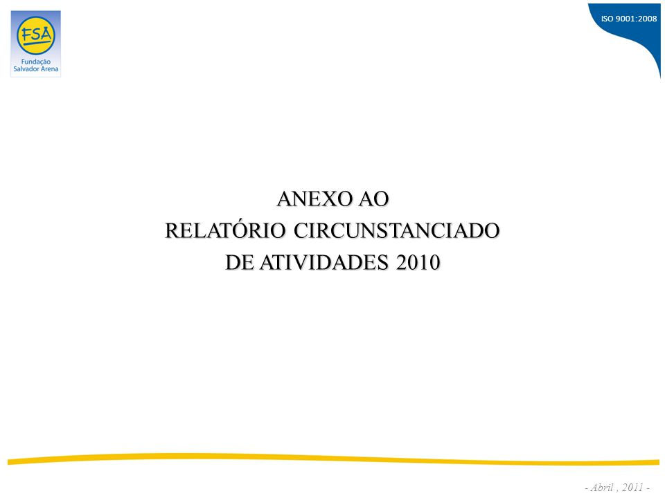 RELATÓRIO CIRCUNSTANCIADO
