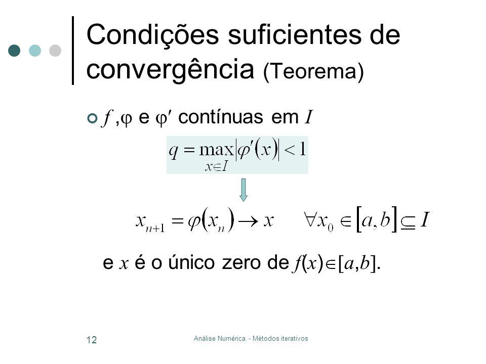 Condições suficientes de convergência (Teorema)