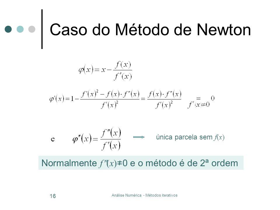 Caso do Método de Newton