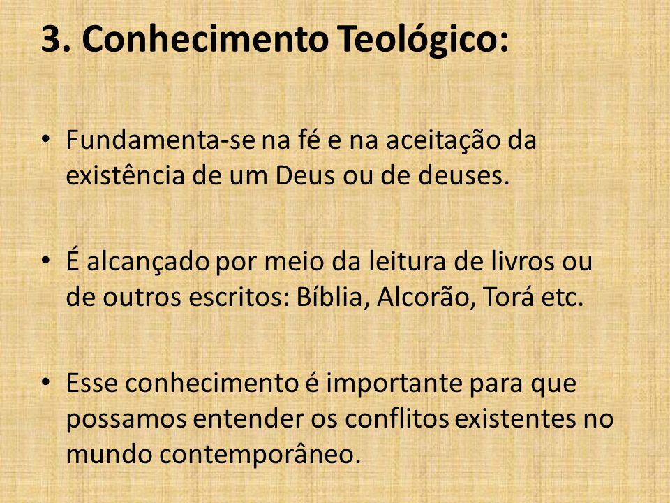 3. Conhecimento Teológico: