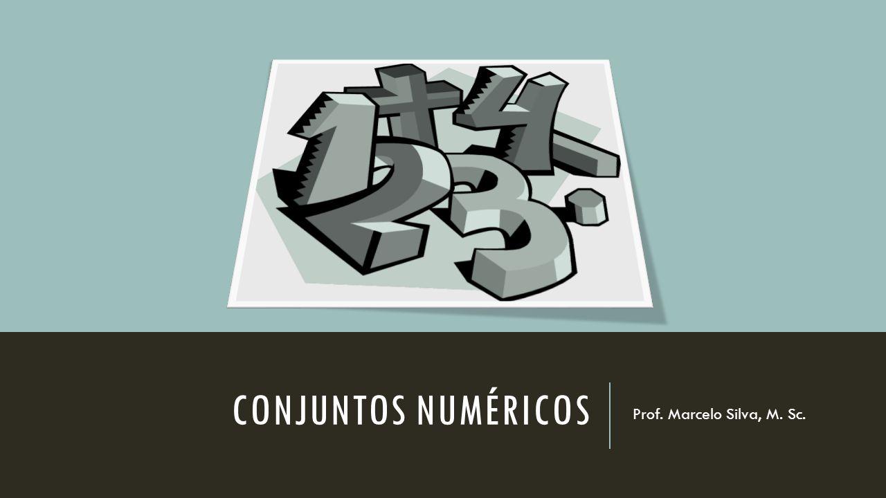 Conjuntos numéricos Prof. Marcelo Silva, M. Sc.