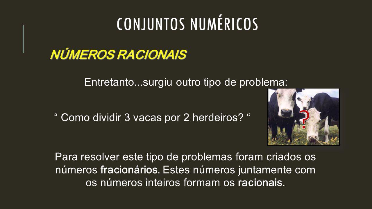 CONJUNTOS NUMÉRICOS NÚMEROS RACIONAIS
