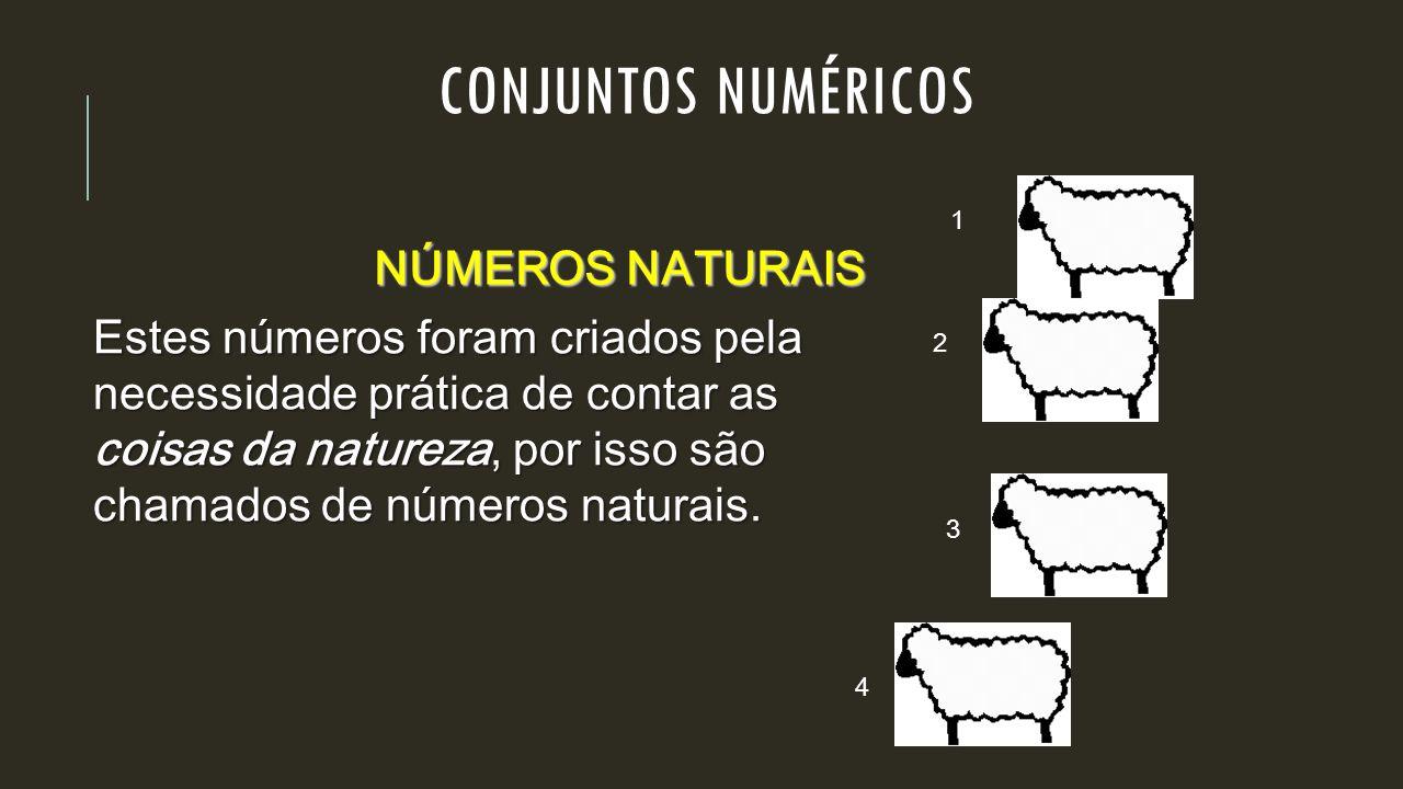 CONJUNTOS NUMÉRICOS NÚMEROS NATURAIS