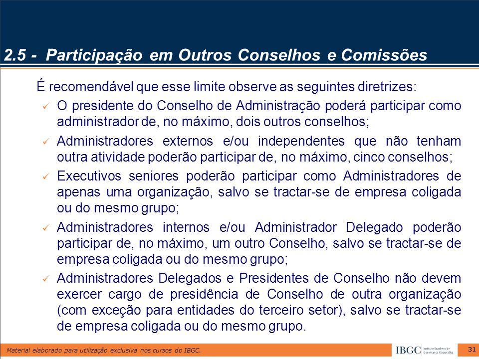 2.5 - Participação em Outros Conselhos e Comissões