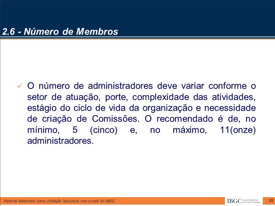 2.6 - Número de Membros