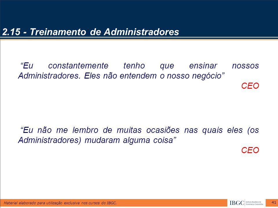 2.15 - Treinamento de Administradores