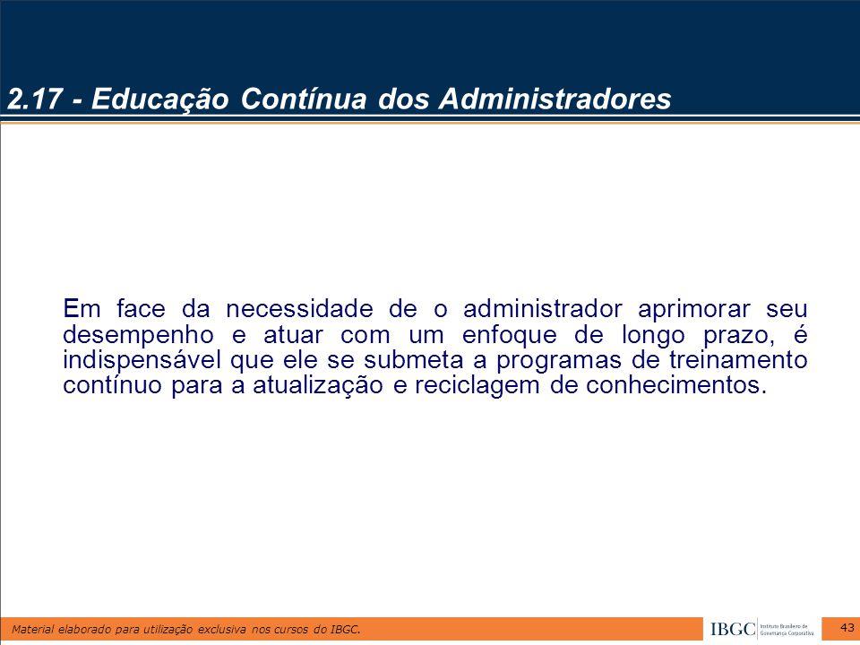 2.17 - Educação Contínua dos Administradores