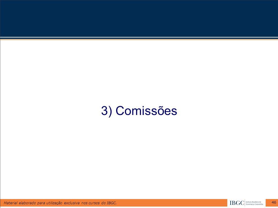 3) Comissões
