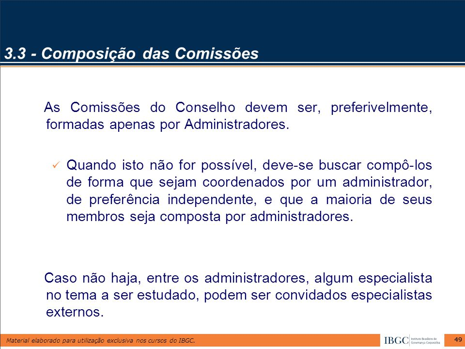 3.3 - Composição das Comissões