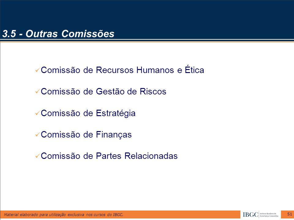 3.5 - Outras Comissões Comissão de Recursos Humanos e Ética