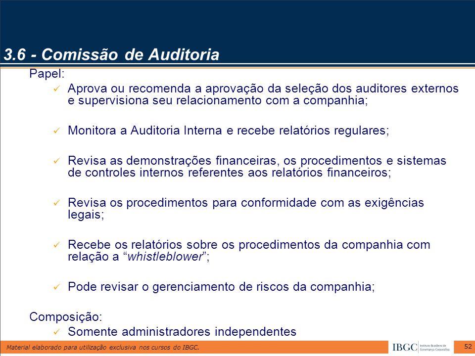3.6 - Comissão de Auditoria
