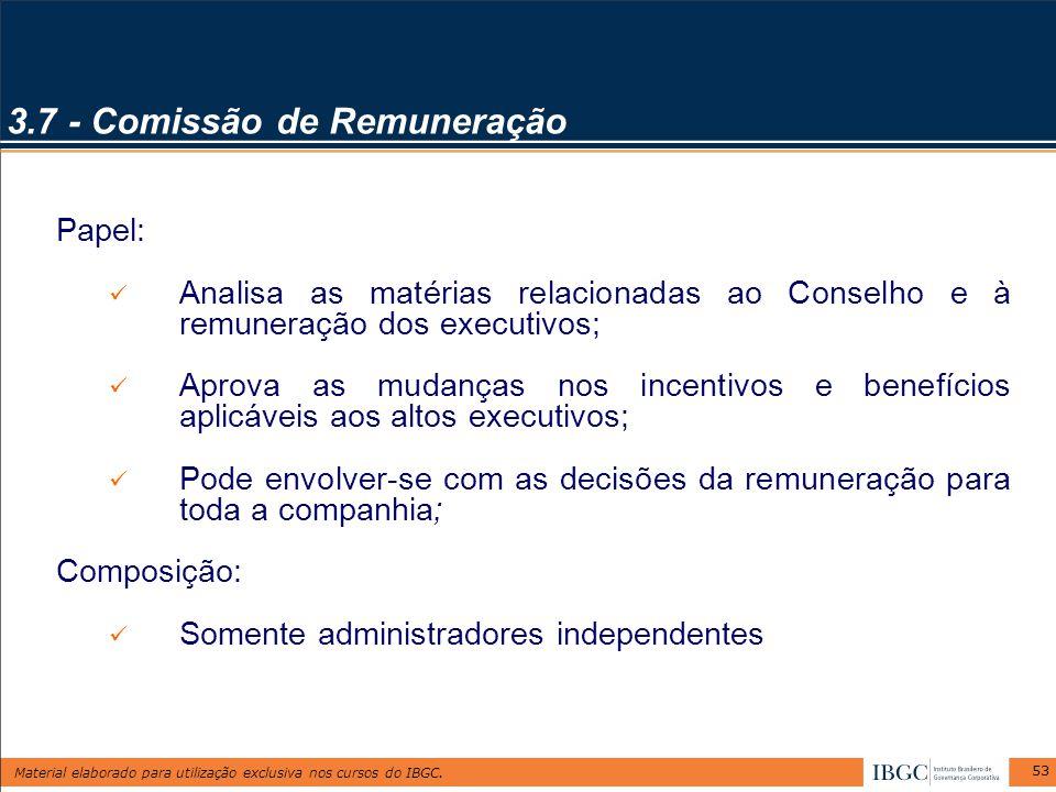 3.7 - Comissão de Remuneração
