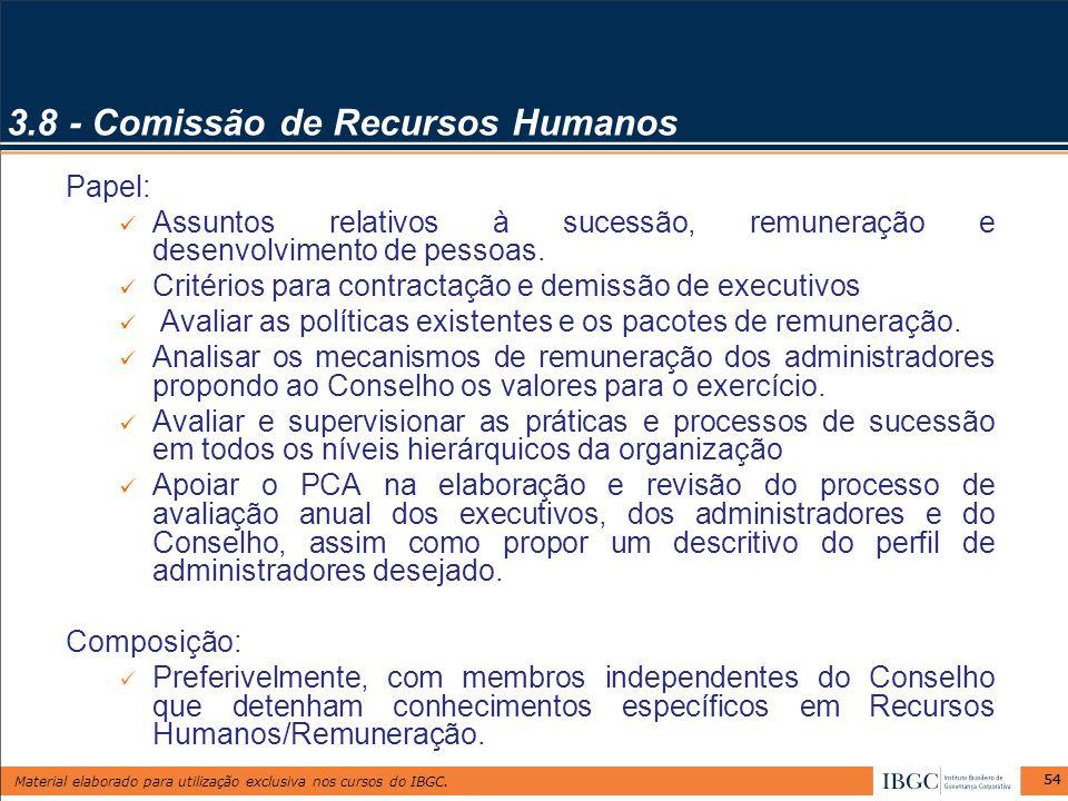 3.8 - Comissão de Recursos Humanos