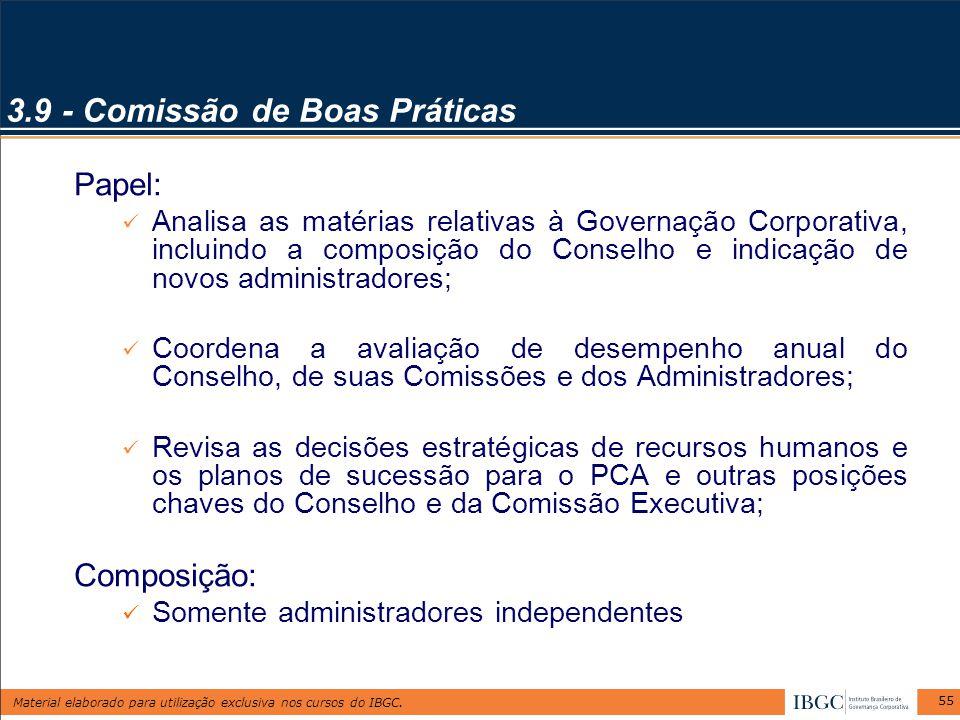 3.9 - Comissão de Boas Práticas