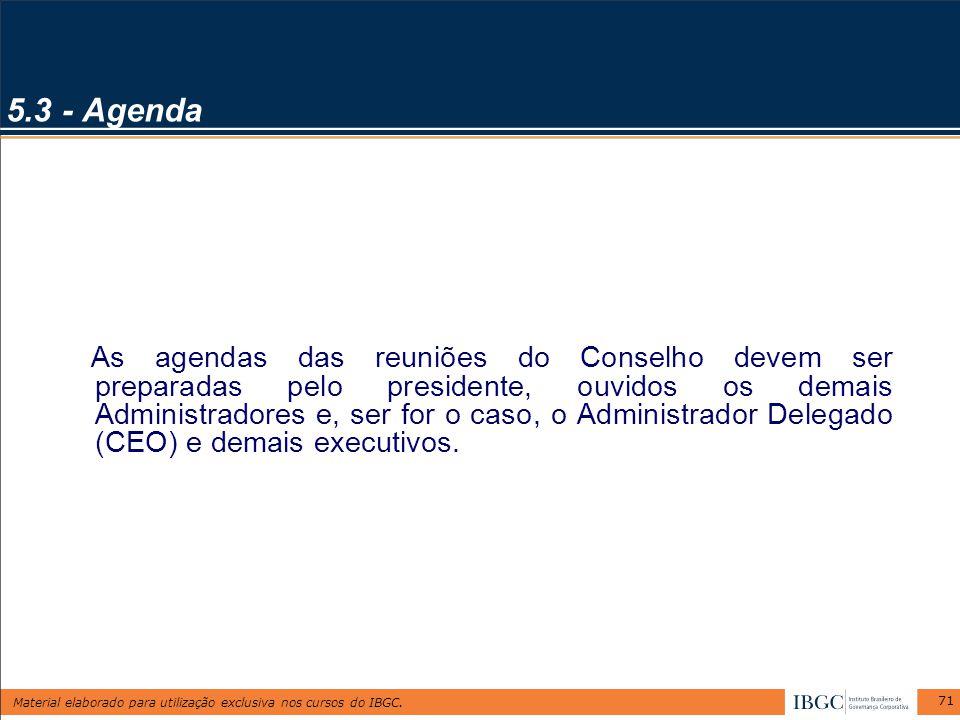 5.3 - Agenda