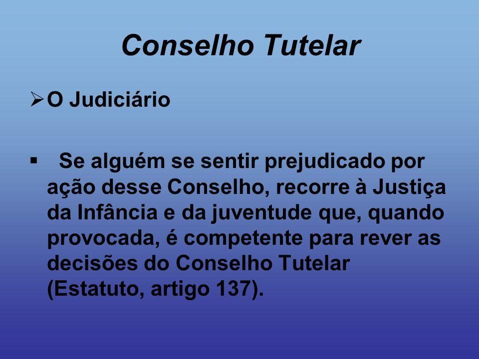 Conselho Tutelar O Judiciário