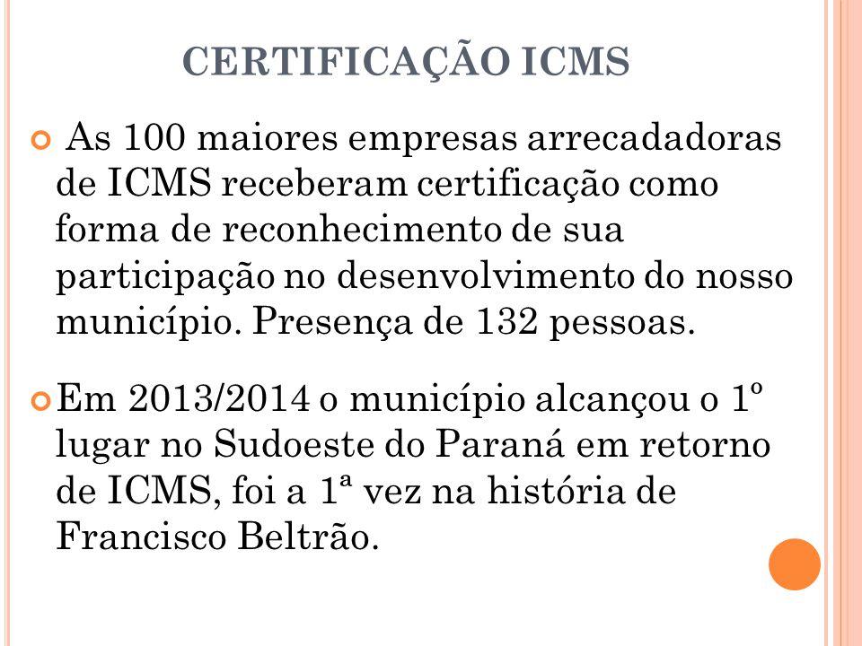 CERTIFICAÇÃO ICMS