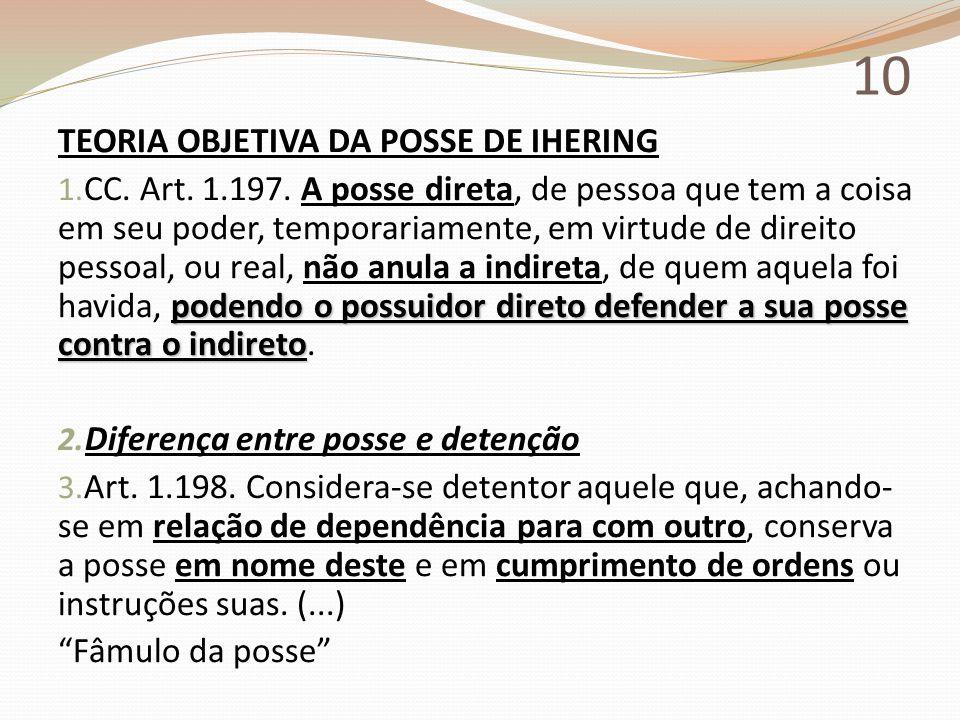 10 TEORIA OBJETIVA DA POSSE DE IHERING
