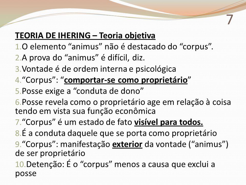 7 TEORIA DE IHERING – Teoria objetiva